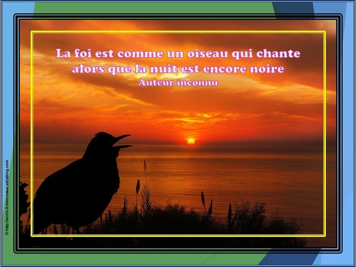 La foi est comme un oiseau