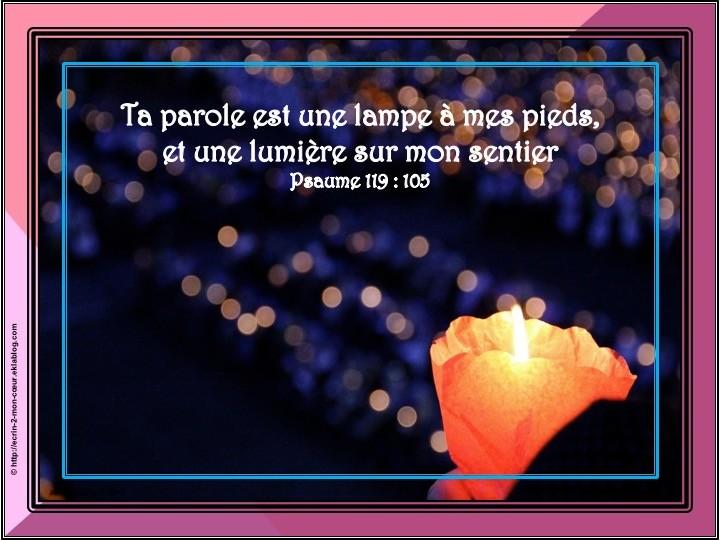 Psaume 119 : 105