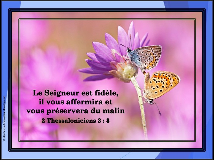 2 Thessaloniciens 3 : 3