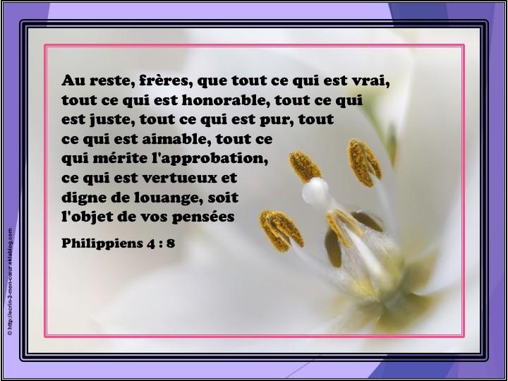 Philippiens 4 : 8