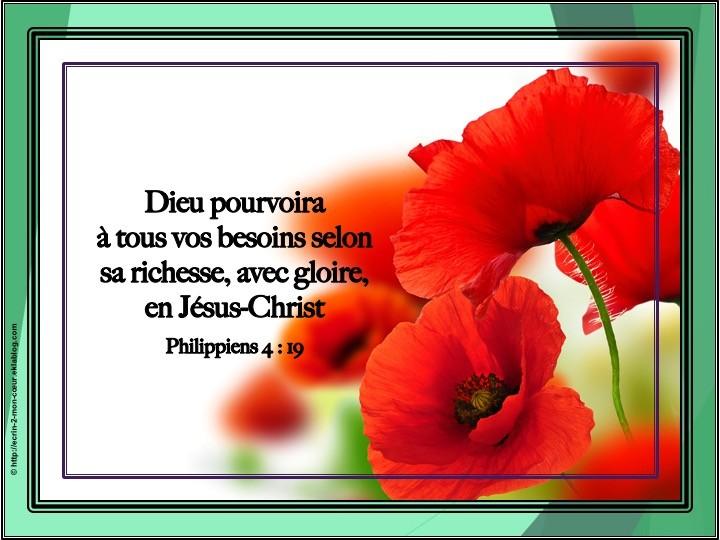 Philippiens 4 : 19